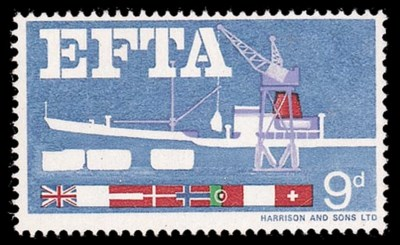 unmounted mint  1967 E.F.T.A.