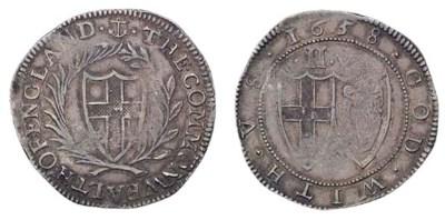 Halfcrown, 1658, anchor initia