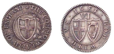 Pattern Sixpence, 1651, by Blo
