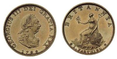 George III, proof Farthing, 17