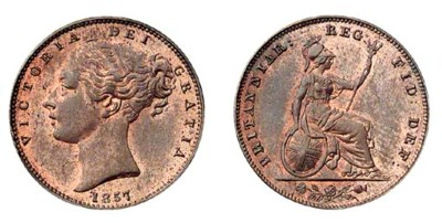 Victoria (1837-1901), Farthing