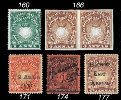 unused  1891 Mombasa Provision
