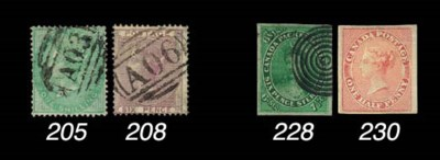 used  1852-57 7½d. yellow-gree