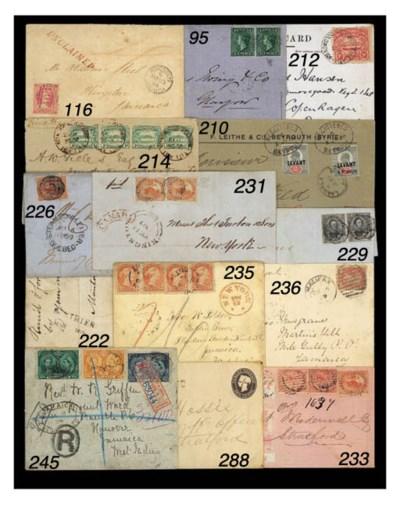cover 1898 envelope registered