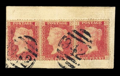 on piece  1d. Plate 183 strip