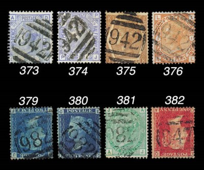 used  2½d. blue Plate 21 with