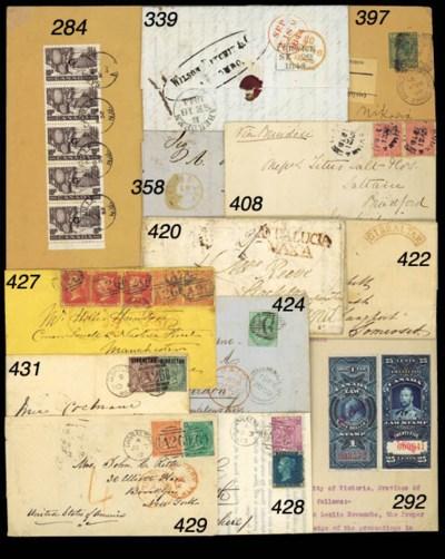 cover 1858 (15 Feb.) envelope