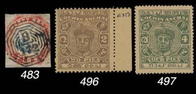 used  MALAYA: 1854 4a. 4th. Pr