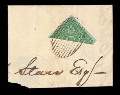 on piece  6d. yellow-green, a