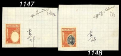 Proof  -- 50c. complete stamp-