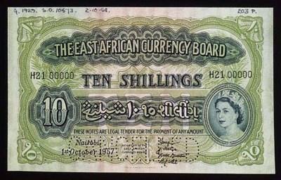 Currency Board, specimen 5/-,
