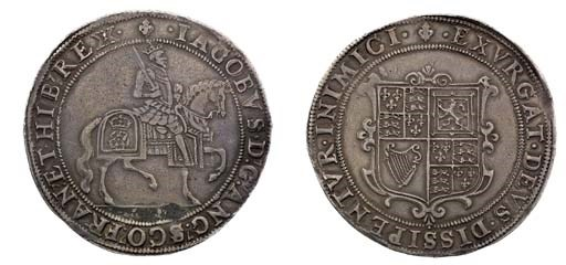 First Coinage, Crown, m.m. lis