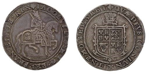 Third coinage, Crown, m.m. tre