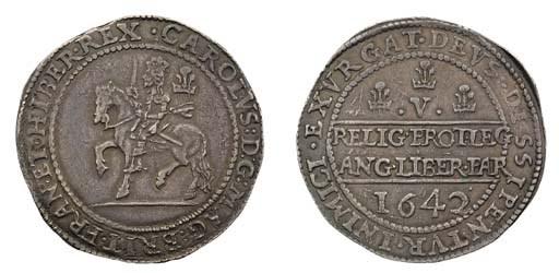 Shrewsbury mint, Crown, 1642,