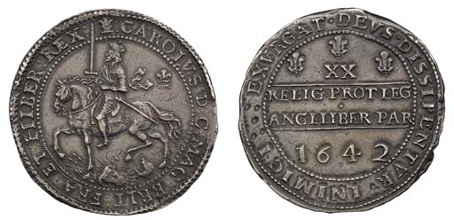 Oxford mint, Pound, 1642, attr