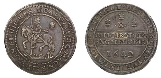 Oxford mint, Halfpound, 1642,