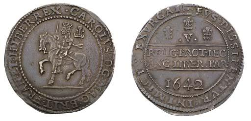 Oxford mint, Crown, 1642, no m