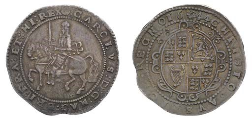 Exeter mint, Crown, 1644, m.m.