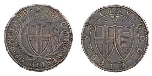 Crown, 1649, m.m. sun, shield