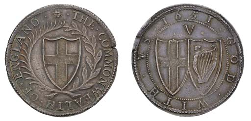Crown, 1651, similar without t