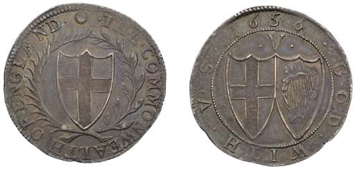Crown, 1656, small 6 over 4, s