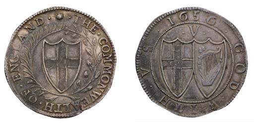 Crown, 1656, large 6 over smal