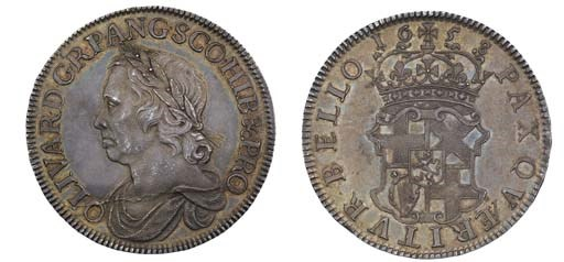 Crown, 1658, 8 over 7, by Thom