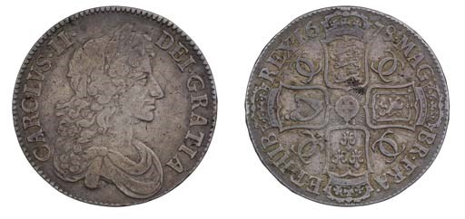 Crown, 1678, 8 over 7, by John