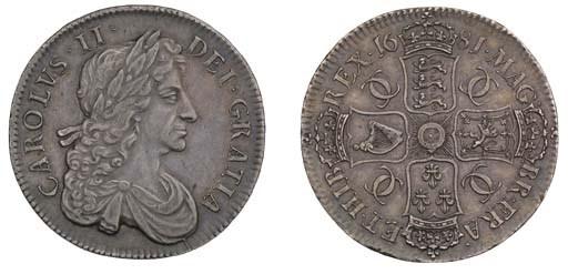 Crown, 1681, by John Roettier,