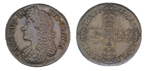 Crown, 1688, 8 over 7, by John