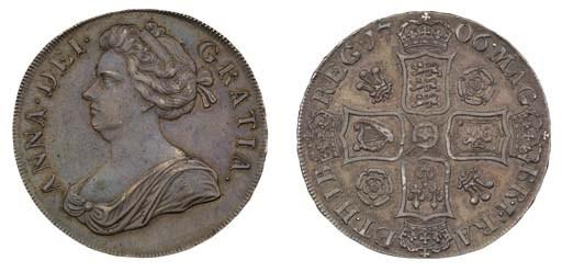 Crown, 1706, by John Croker, f