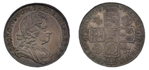 Crown, 1718, by J R Ochs, laur