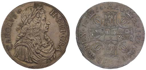 Four Merks, 1664, laureate and