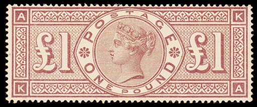 unused  KA, very fresh unused with large part original gum; a few light gum bends or wrinkles and small corner crease at top-right corner, otherwise fine. Excellent colour. Very rare. S.G. 186, £28,000. B.P.A. Certificate (2001). Photo