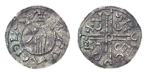 Bretislav I, Denar, obv. hand,