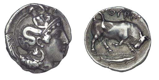 Ancient Greek Coins, Italy, Lu