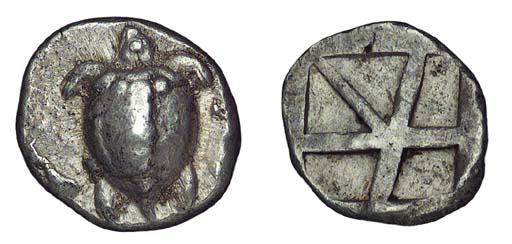 Ancient Greek Coins, Aigina (c