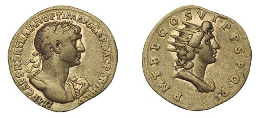Trajan (A.D. 98-117), Aureus,