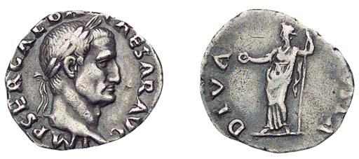 Roman Republic, Galba, Denariu