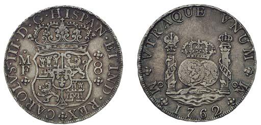 Pillar Dollar, 1762 MF (Cy.111
