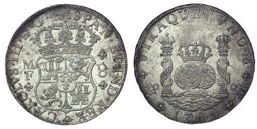 Pillar Dollar, 1765 MF (Cy.111