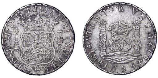 Pillar Dollar, 1755 JM (Cy.987