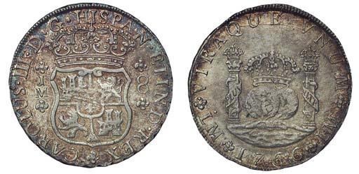 Pillar Dollar, 1766 JM (Cy.111