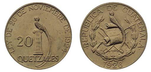 Foreign Coins, Guatemala, 20-Q