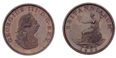 George III, Pattern Halfpenny,