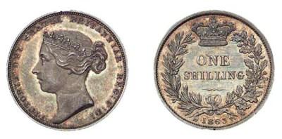 Victoria, Pattern Shilling, 18