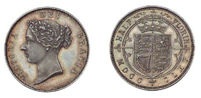 Victoria, Pattern Half-florin,