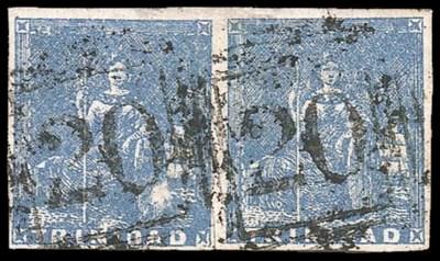 used  (1d.) blue horizontal pa