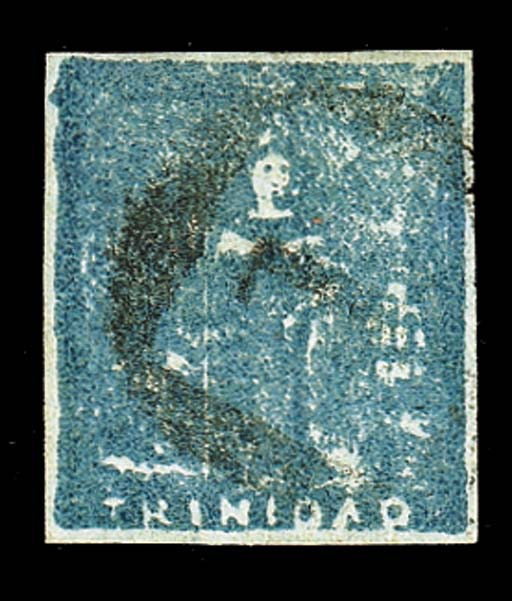 """used  (1d.) slate-blue with good margins and mainly lightly cancelled """"1"""", fine. R.P.S. Certificate (1958). Sc. 11; S.G. 18, £650. Photo"""