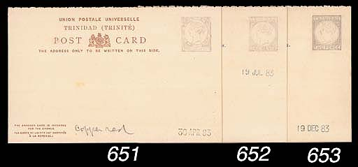 """essay  1884 1½d. reply paid in red-brown with both halves showing pencil sketch of the stamp impression, marked """"Copper red"""" and dated """"30 APR. 83"""". Photo"""